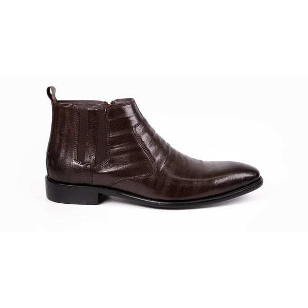 Ulead Benjamin Brown Leather Mens Ankle Boot