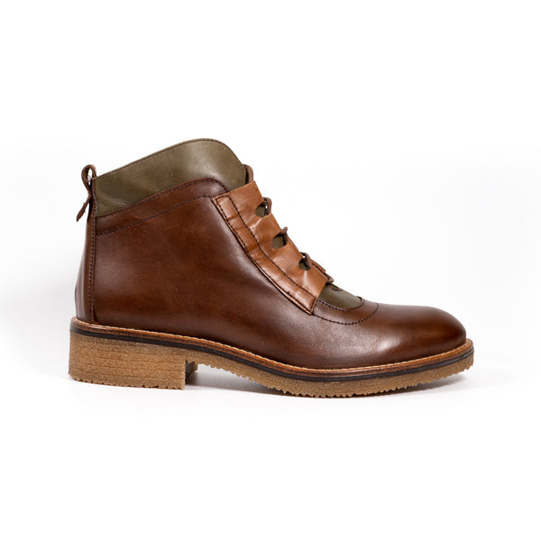 Zeta Nature Brown Womens Ankle Boots