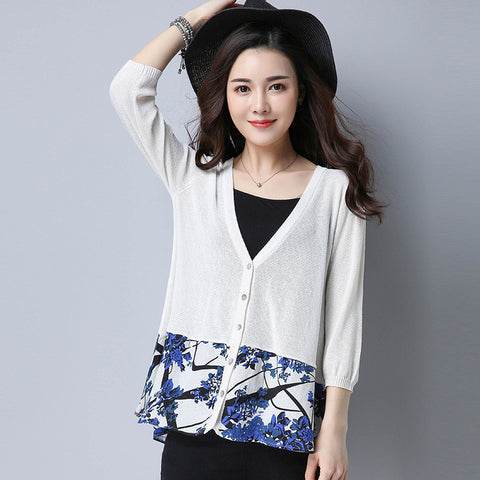 Addy Spring Cardigan - White