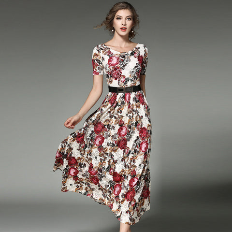 Britney Long Floral Dress - Dress - Stage & Splendor