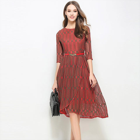 Beryl Red Dress - Dress - Stage & Splendor