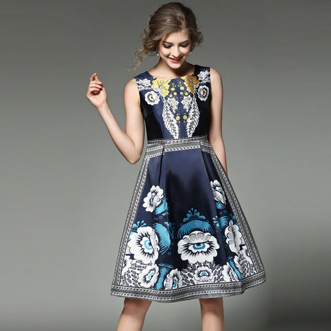 Calla Blue Floral Dress - Dress - Stage & Splendor