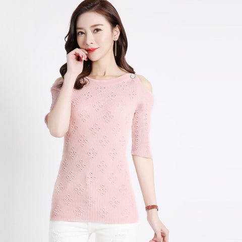 Addy Shoulderless Top - Pink