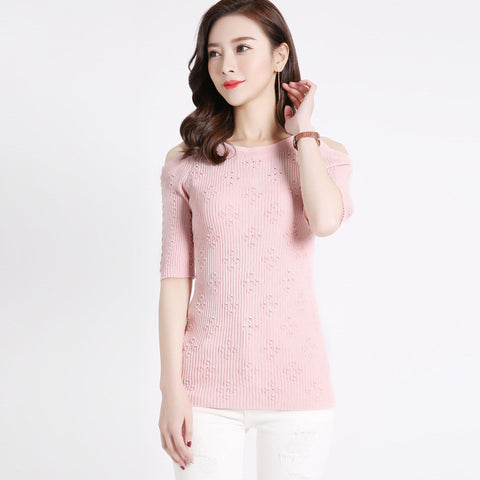 Addy Shoulderless Top - Pink - Top - Stage & Splendor