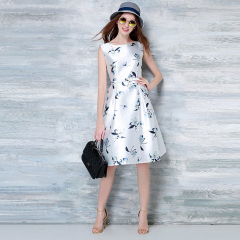 Lachina Floral Print Dress - White