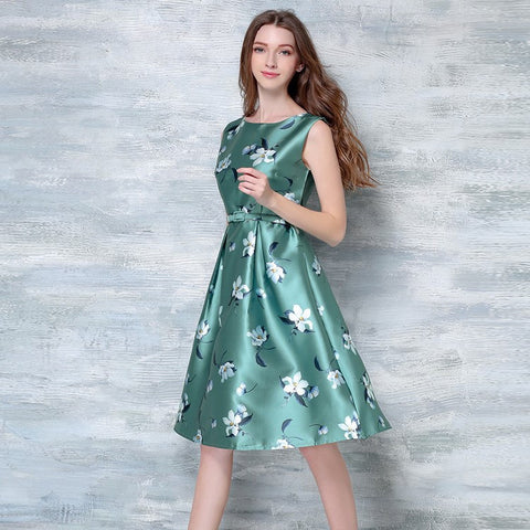 Lachina Floral Print Dress - Green - One Piece Dress - Stage & Splendor