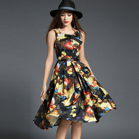 Ealasaid Floral Print Dress - One Piece Dress - Stage & Splendor