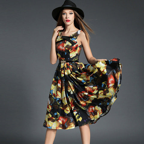 Ealasaid Floral Print Dress