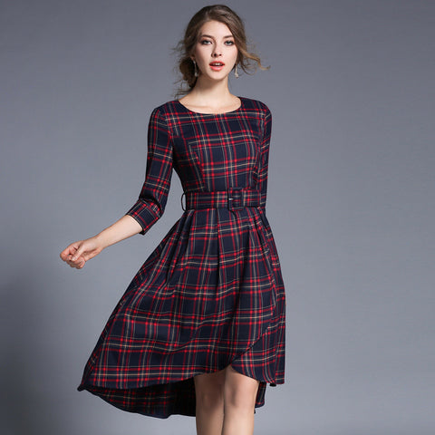 Takara Checkered Dress
