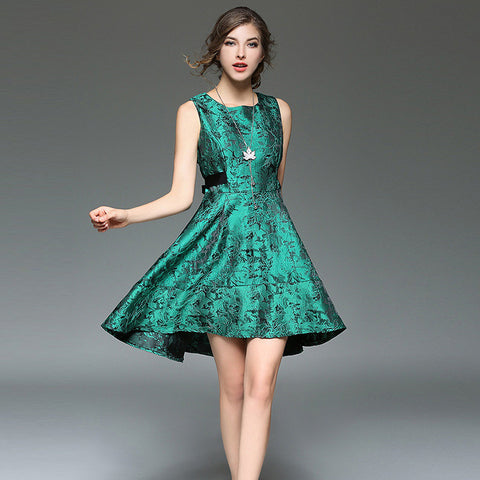 Edda One Piece Dress - Green - Dress - Stage & Splendor