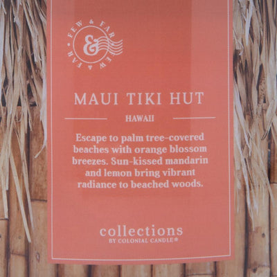Colonial Candle Scented Jar Candle, Travel Collection, Maui Tiki Hut, 14.5 oz, Wholesale - 4 pk
