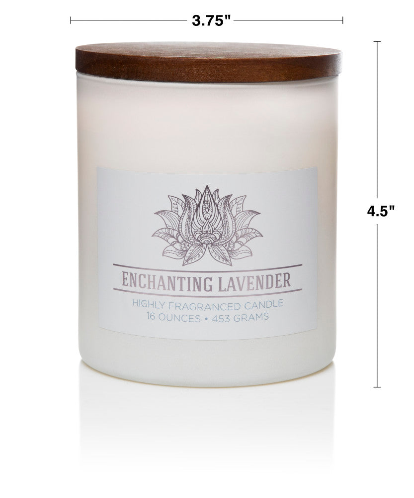 Wellness by Colonial Candle Scented Jar Candle, White Jar, Enchanting Lavender, 16 oz, Wholesale - 4 pk