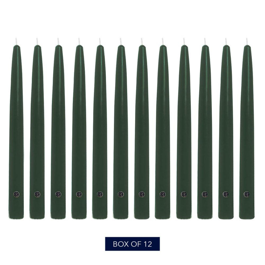 Colonial Candle Handipt Taper Candle, Unscented, 6 in, Evergreen, 12 pk (1 inner) - Wholesale