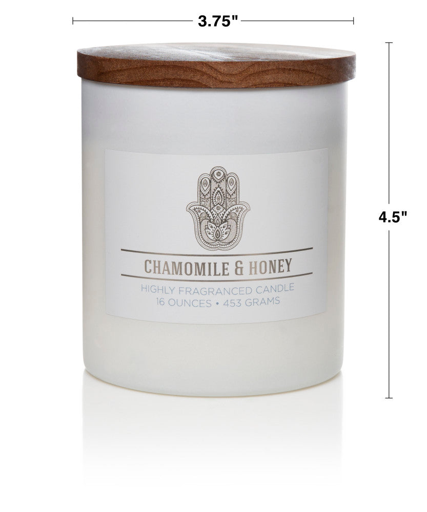 Wellness by Colonial Candle Scented Jar Candle, White Jar, Gourmand, 16 oz, Wholesale - 4 pk