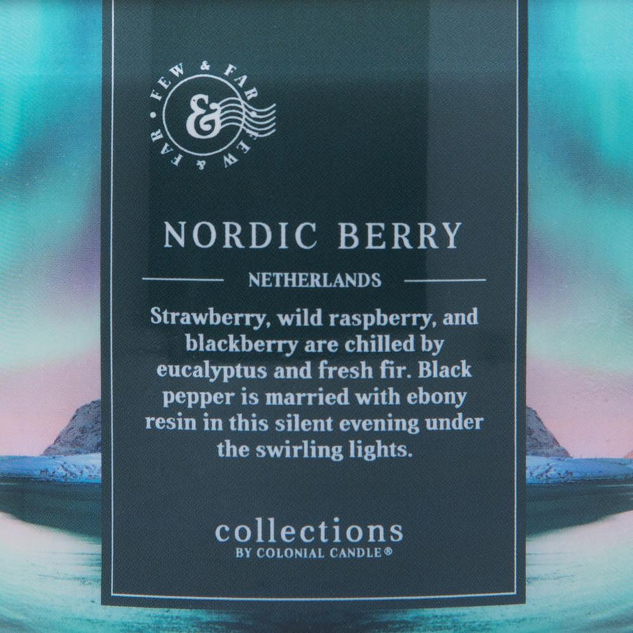 Colonial Candle Scented Jar Candle, Travel Collection, Nordics Berry, 14.5 oz, Wholesale - 4 pk