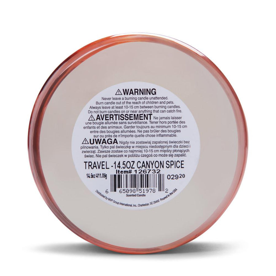 Colonial Candle Scented Jar Candle, Travel Collection, Canyon Spice, 14.5 oz, Wholesale - 4 pk