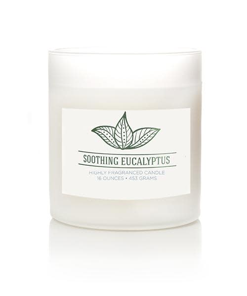 Wellness by Colonial Candle Scented Jar Candle, White Jar, Soothing Eucalyptus, 16 oz, Wholesale - 4 pk