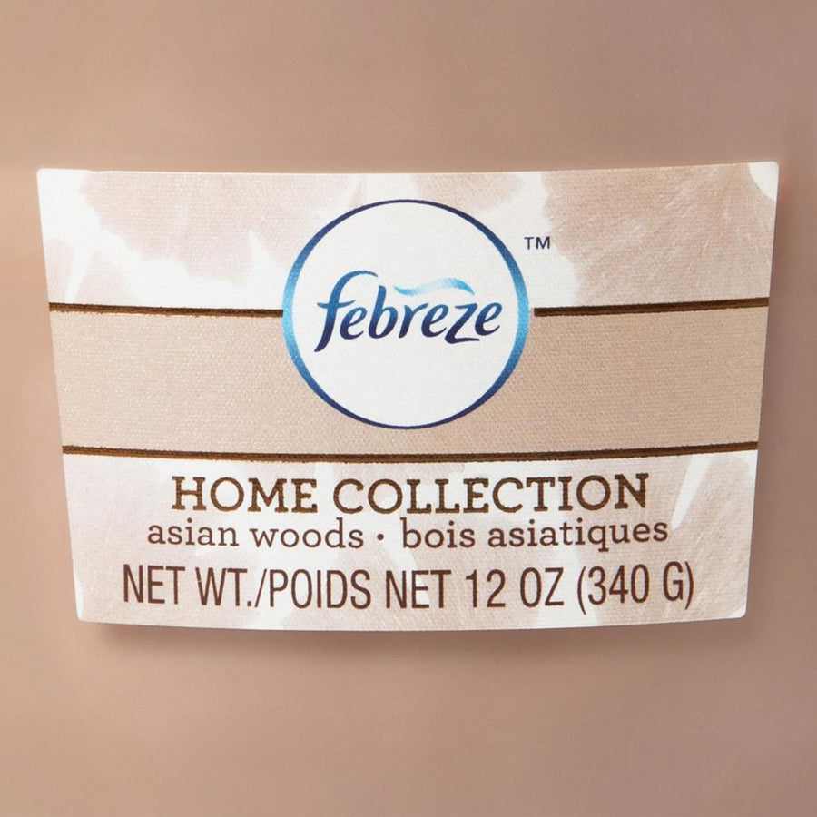 Febreze Home Collection Scented Jar Candle, Asian Woods, 12 oz, Single - Febreze Home Collection