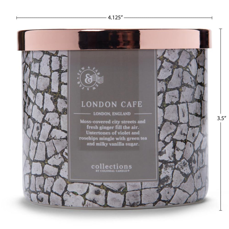Colonial Candle Scented Jar Candle, Travel Collection, London Café, 14.5 oz, Wholesale - 4 pk