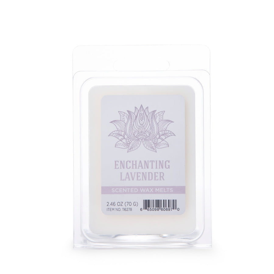 Wellness by Colonial Candle Wax Melt, White, Enchanting Lavender, 2.46 oz, 6 cube, Wholesale - 6 pk