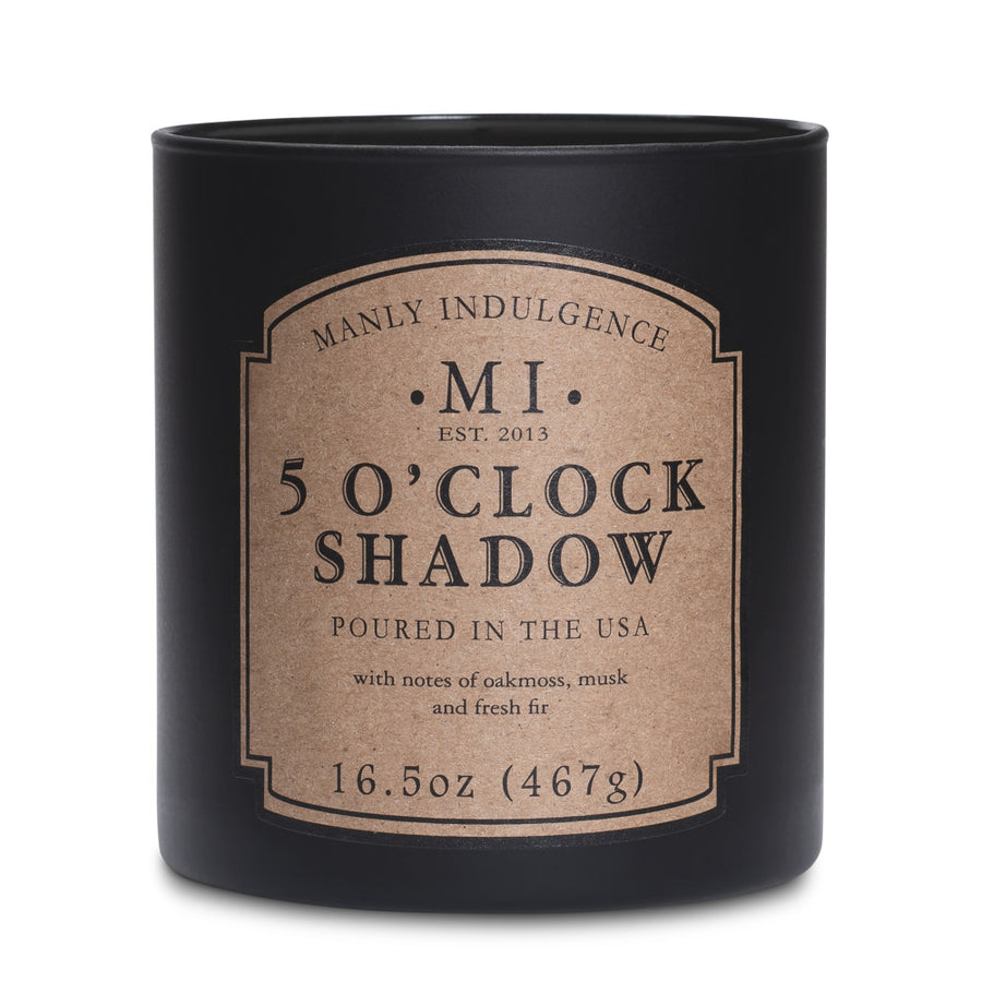 Manly Indulgence Scented Jar Candle, Classic Collection - 5 O'Clock Shadow, 16.5 oz - Wholesale - 4 pk