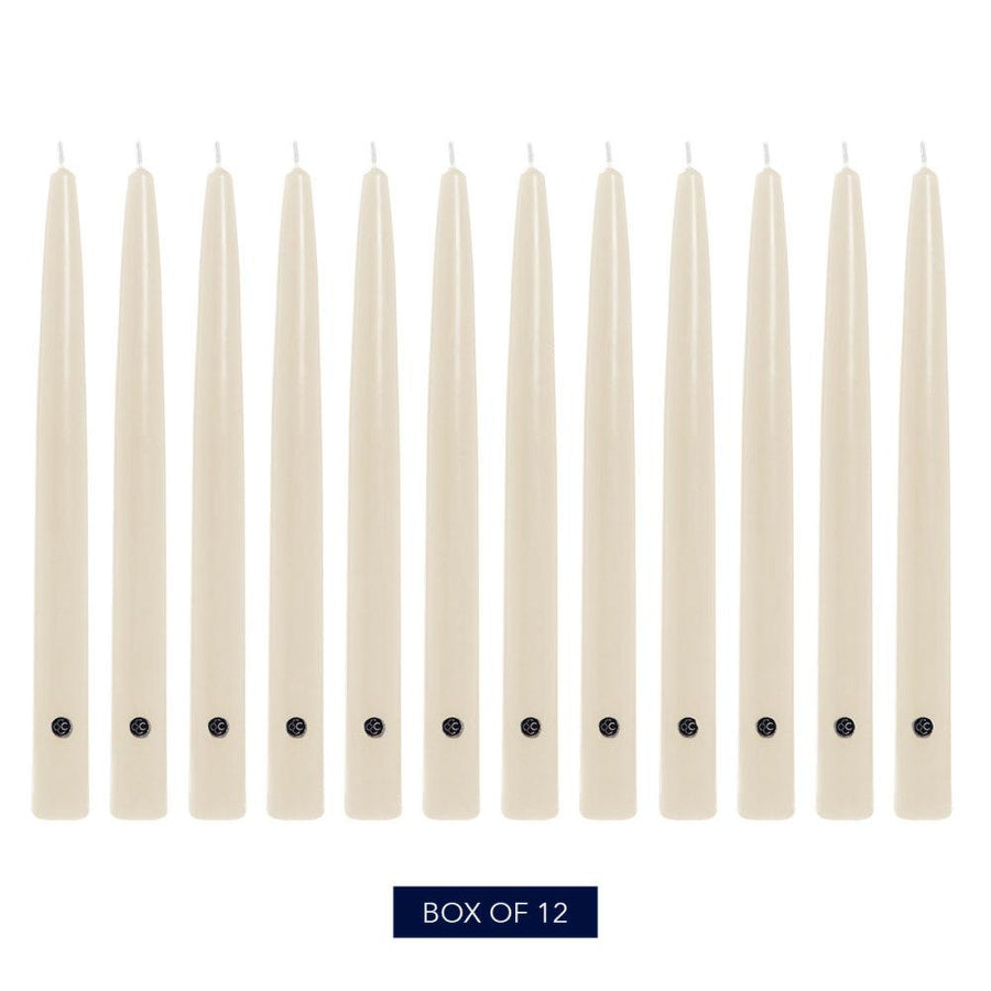 Colonial Candle Handipt Taper Candle, Unscented, 12 in, Wheat, 12 pk (1 inner) - Wholesale