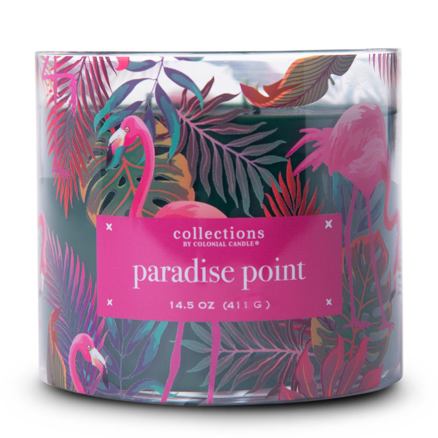 Collections by Colonial Candle Scented Jar Candle, Tropic Paradise Point, 14.5 oz, Wholesale - 4 pk