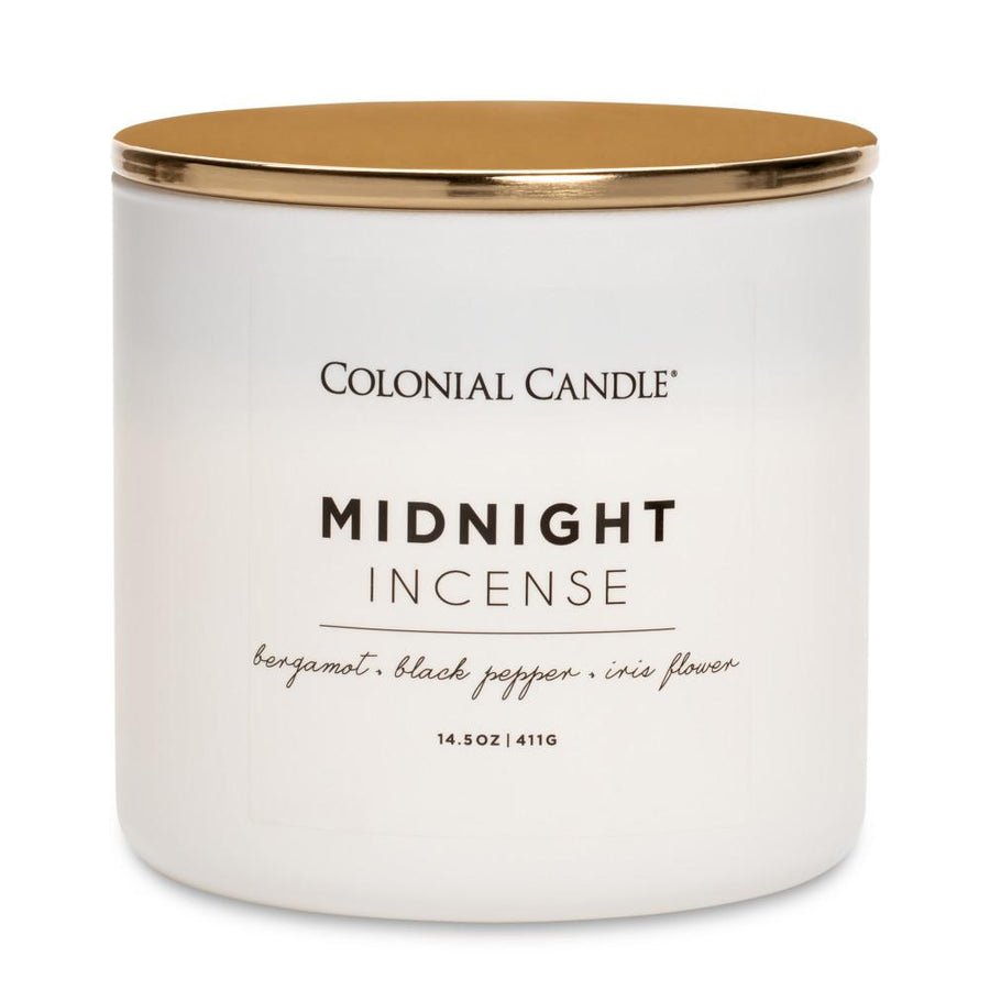 Pop of Color Scented Jar Candle, Midnight Incense, 14.5 oz, Wholesale - 4 pk
