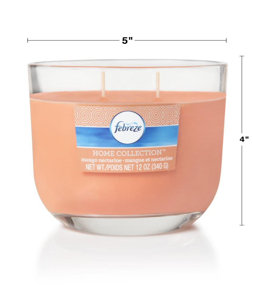 Febreze Home Collection Scented Jar Candle, Mango Nectarine, 12 oz, Single - Febreze Home Collection