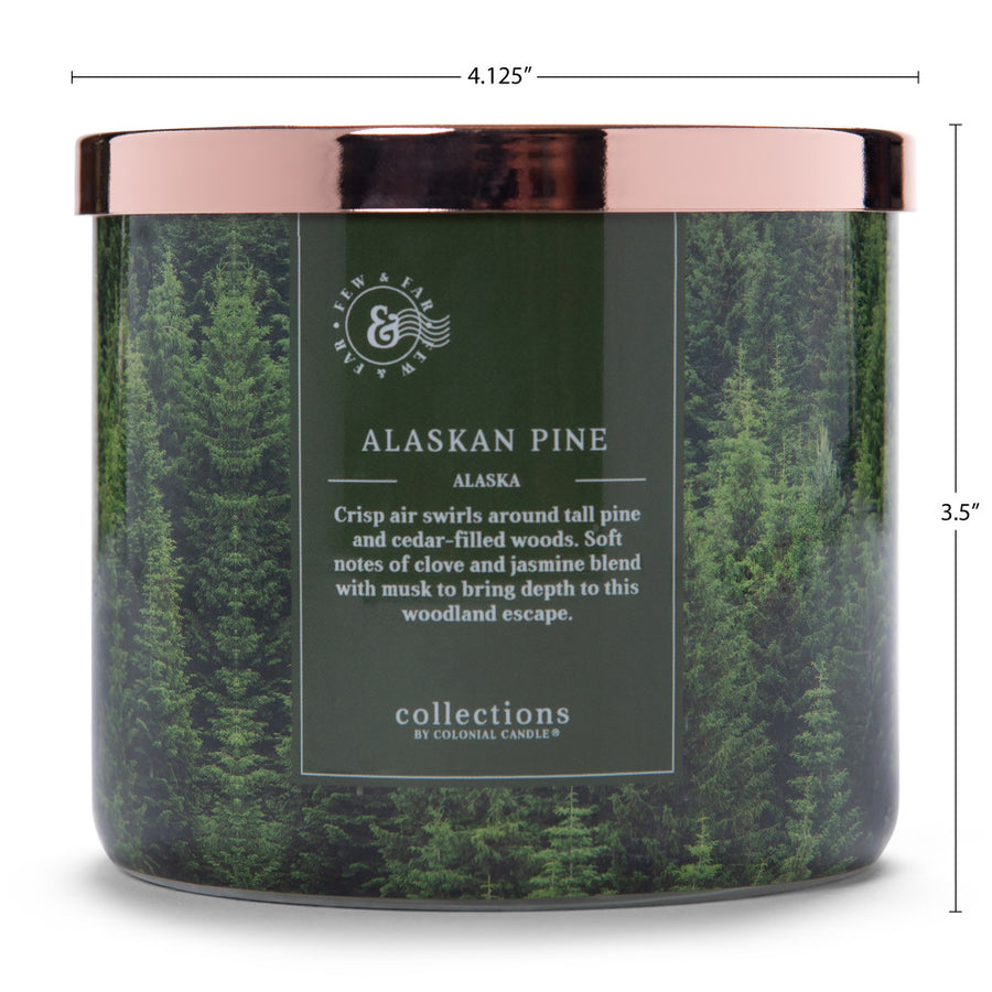 Colonial Candle Scented Jar Candle, Travel Collection, Alaska Pine, 14.5 oz, Wholesale - 4 pk