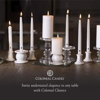 Colonial Candle Pillar Candle, Unscented, 3x6, Evergreen, Wholesale - 2 pk