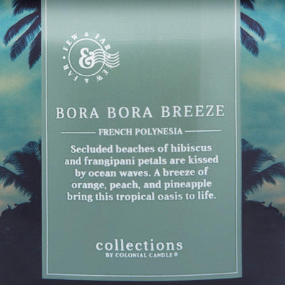 Colonial Candle Scented Jar Candle, Travel Collection, Bora Bora Breeze, 14.5 oz, Wholesale - 4 pk