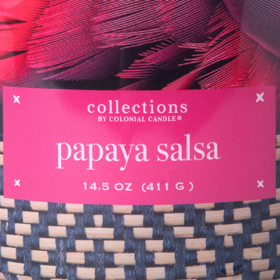 Collections by Colonial Candle Scented Jar Candle, Papaya Salsa, 14.5 oz, Wholesale - 4 pk
