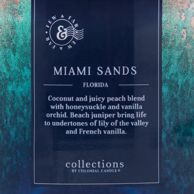 Colonial Candle Scented Jar Candle, Travel Collection, Miami Sands, 14.5 oz, Wholesale - 4 pk