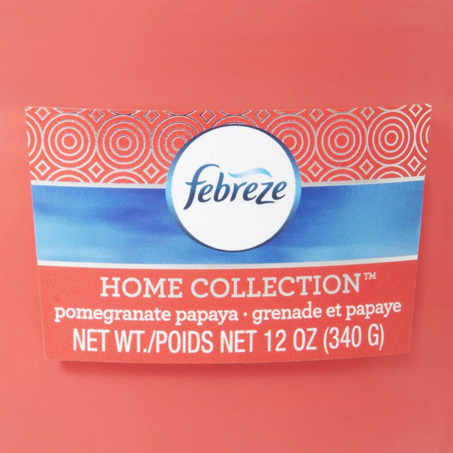 Febreze Home Collection Scented Jar Candle, Pomegranate Papaya, 12 oz, Single - Febreze Home Collection