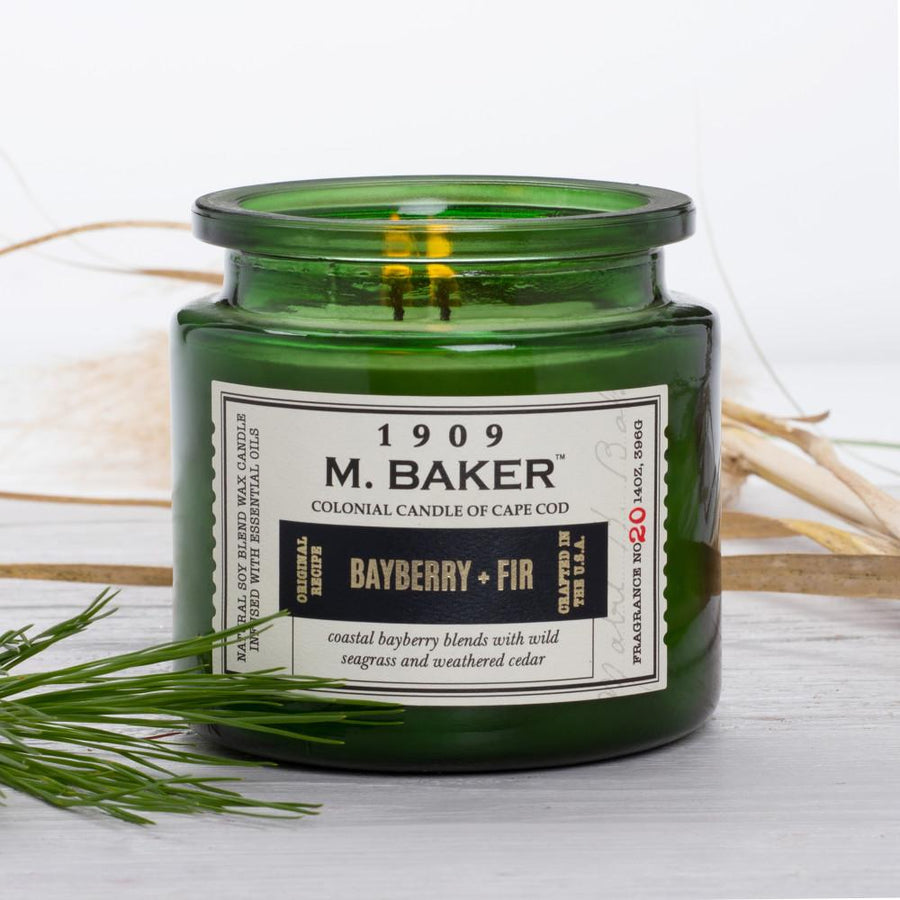 M. Baker Scented Jar Candle, Large, Bayberry and Fir, 14 oz, Wholesale - 4 pk
