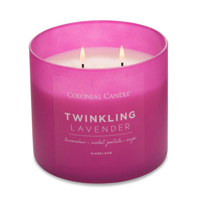 Pop of Color Scented Jar Candle, Twinklin Lavender, 14.5 oz, Wholesale - 4 pk
