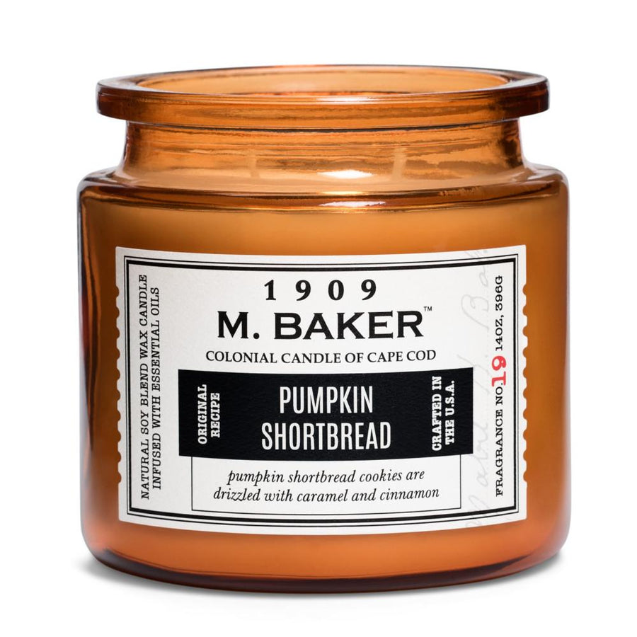 M. Baker Scented Jar Candle, Large, Pumpkin Shortbread, 14 oz, Wholesale - 4 pk