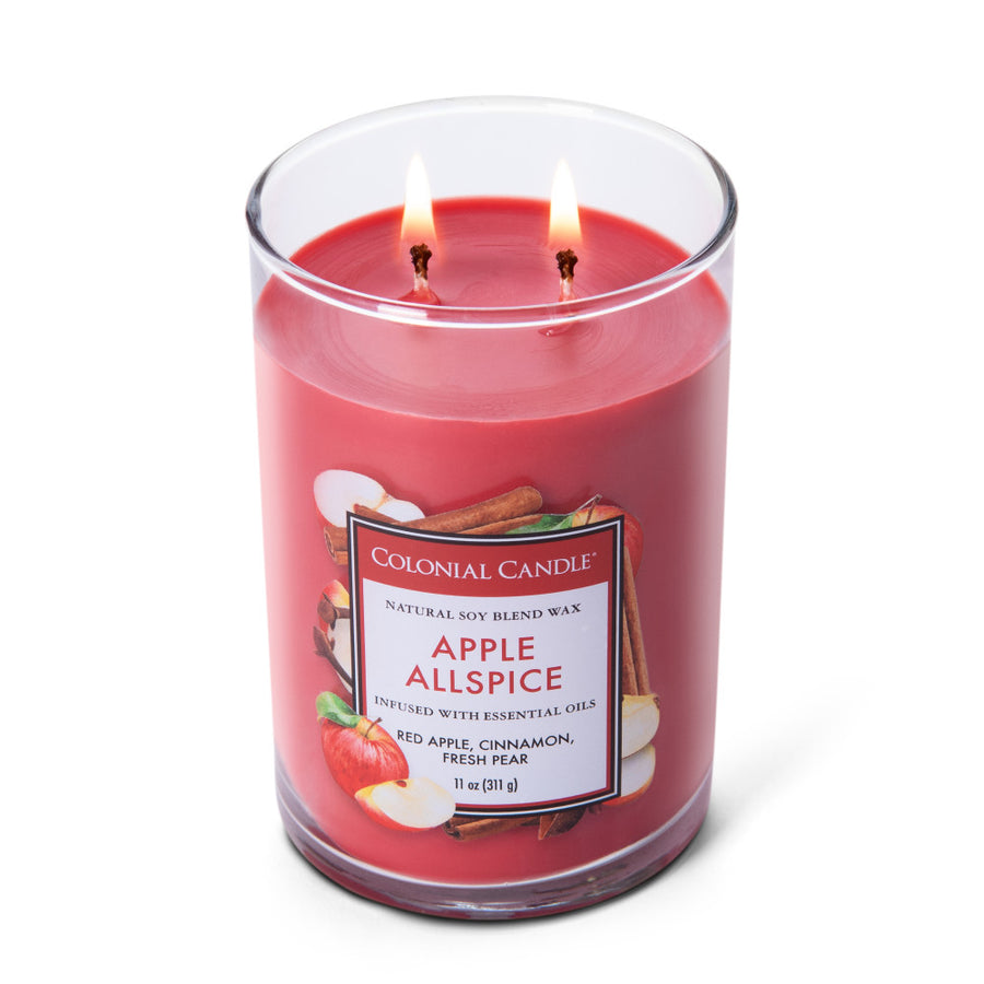 Colonial Candle Classic Cylinder Scented Jar Candle, Watermelon Lemonade, 11 oz, Wholesale - 4 pk