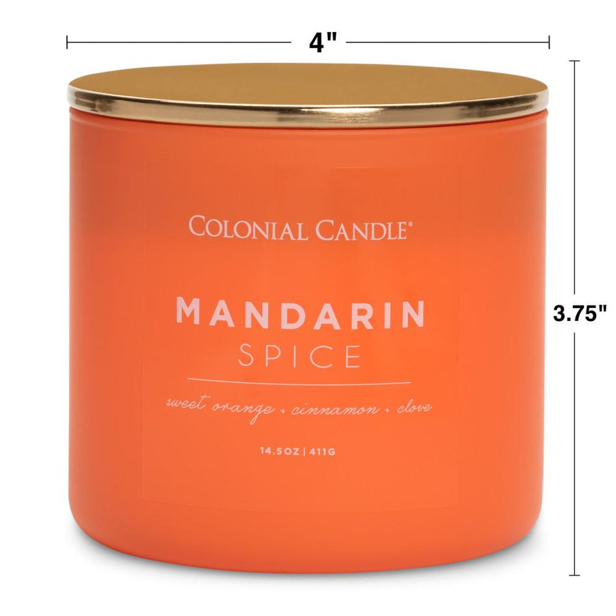 Pop of Color Scented Jar Candle, Mandarin Spice, 14.5 oz, Wholesale - 4 pk