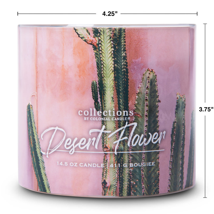 Collections by Colonial Candle Scented Jar Candle, Desert Desert Flower, 14.5 oz, Wholesale - 4 pk