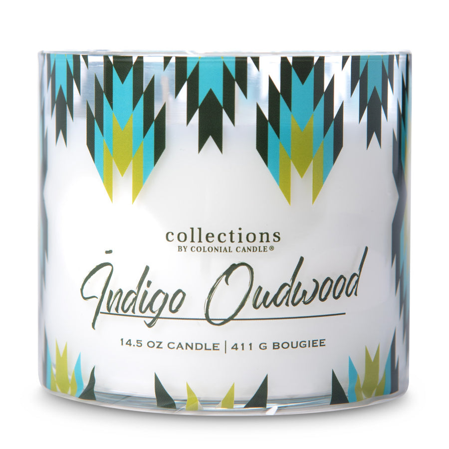 Collections by Colonial Candle Scented Jar Candle, Desert Indigo Oudwood, 14.5 oz, Wholesale - 4 pk