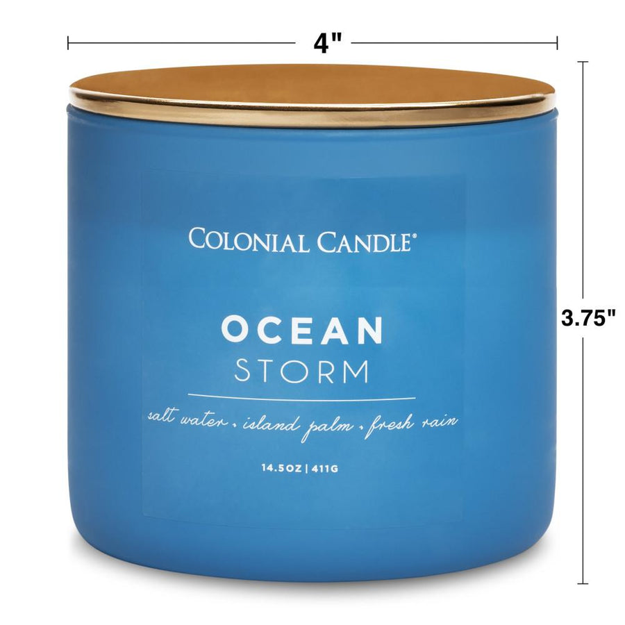 Pop of Color Scented Jar Candle, Ocean Storm, 14.5 oz, Wholesale - 4 pk