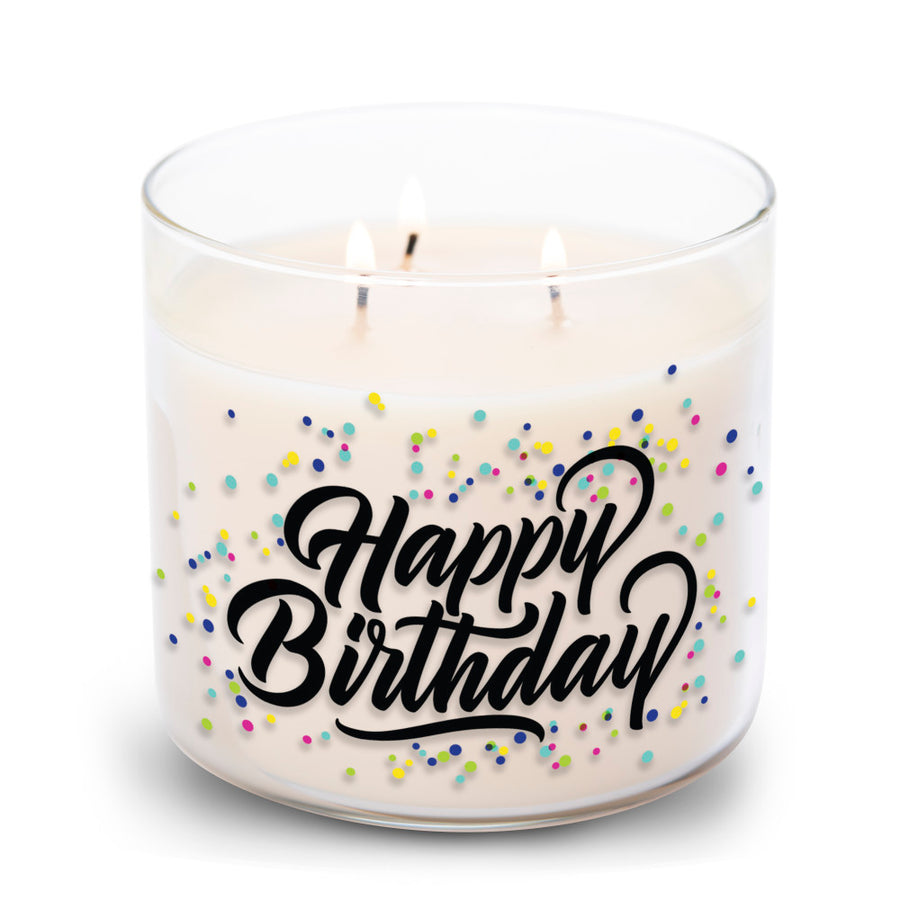 Collections by Colonial Candle Scented Jar Candle, Happy Birthday, 14.5 oz, Wholesale - 4 pk