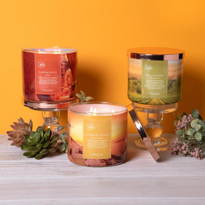 Colonial Candle Scented Jar Candle, Travel Collection, Santorini Sunset, 14.5 oz, Wholesale - 4 pk