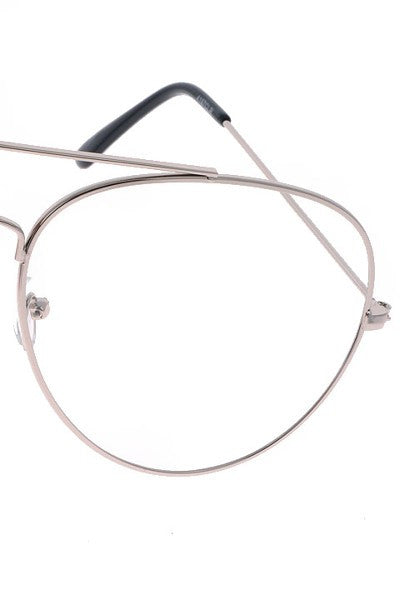 """Geek"" Clear Aviator Shades"