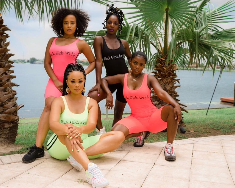 ADS  Neon Summer Black Girls Are Lit Jumpsuit