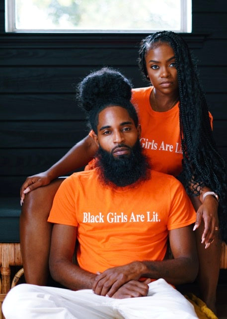 Black Girls Are Lit Minimal Unisex Tee