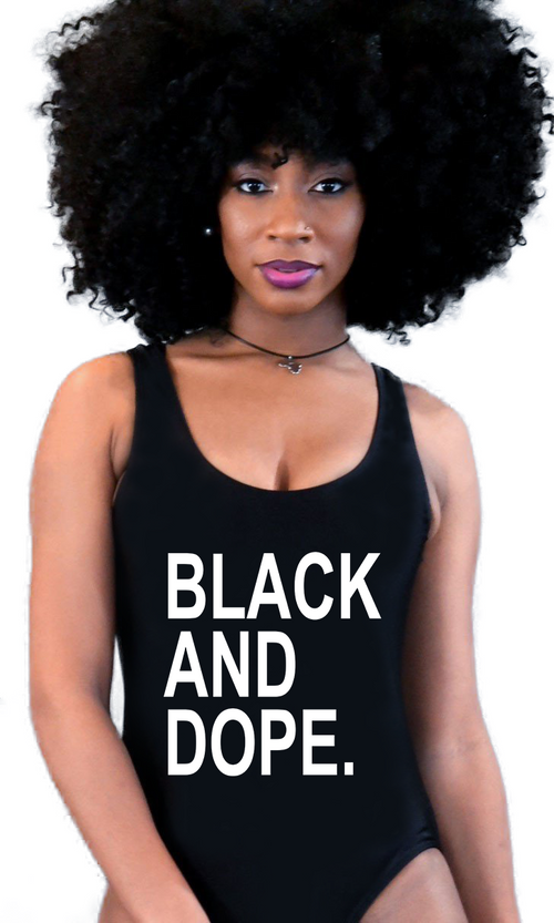 ADS Signature Swimsuit - Black and Dope