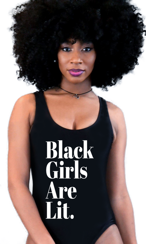 1445926687c817 All Dem' Shades Signature Black Girls Are Lit Swimsuit